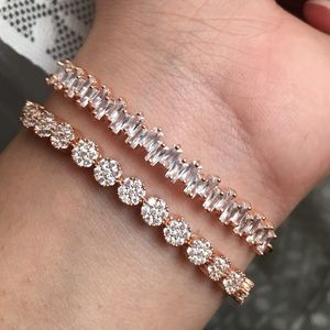 Jewelry - Two Rose Gold Crystal Adjustable Bracelets